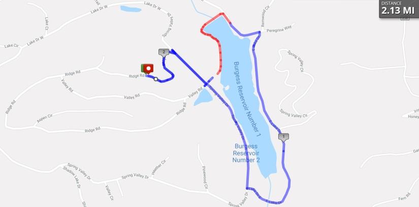 Peakview Cabin Pikes Peak Mountain Getaway - Burgess Reservoir Loop Map